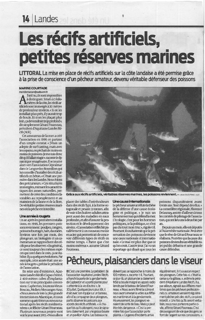 Sud OUest article 23.8.12