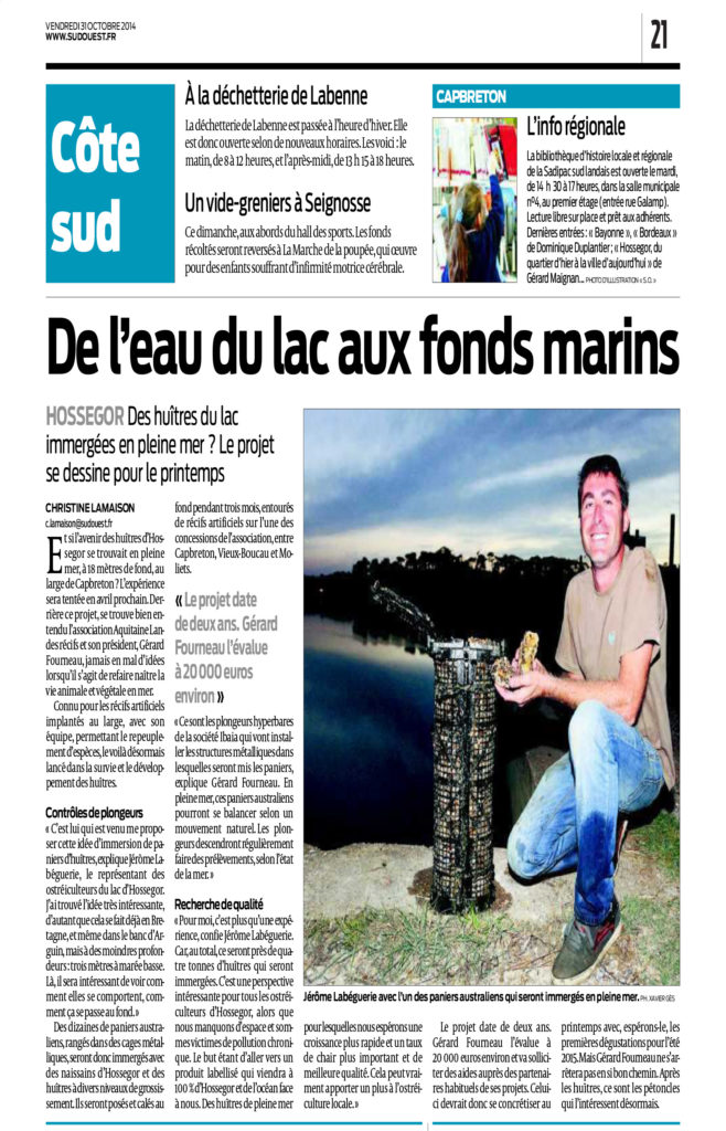 Sud Ouest Huitres Jerome 31.10.14