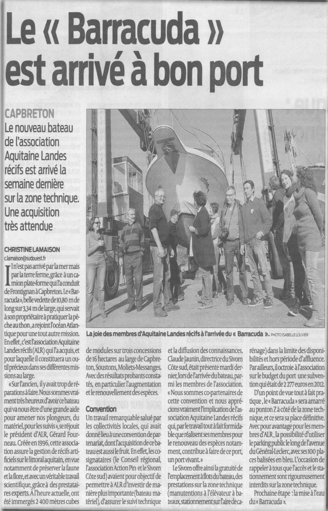 Sud Ouest article 26.2.13