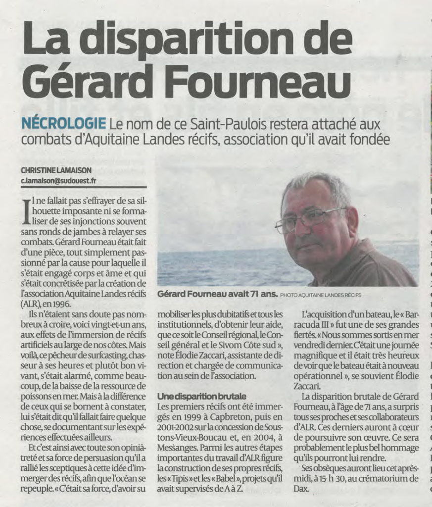 Sud Ouest article 9.11.17