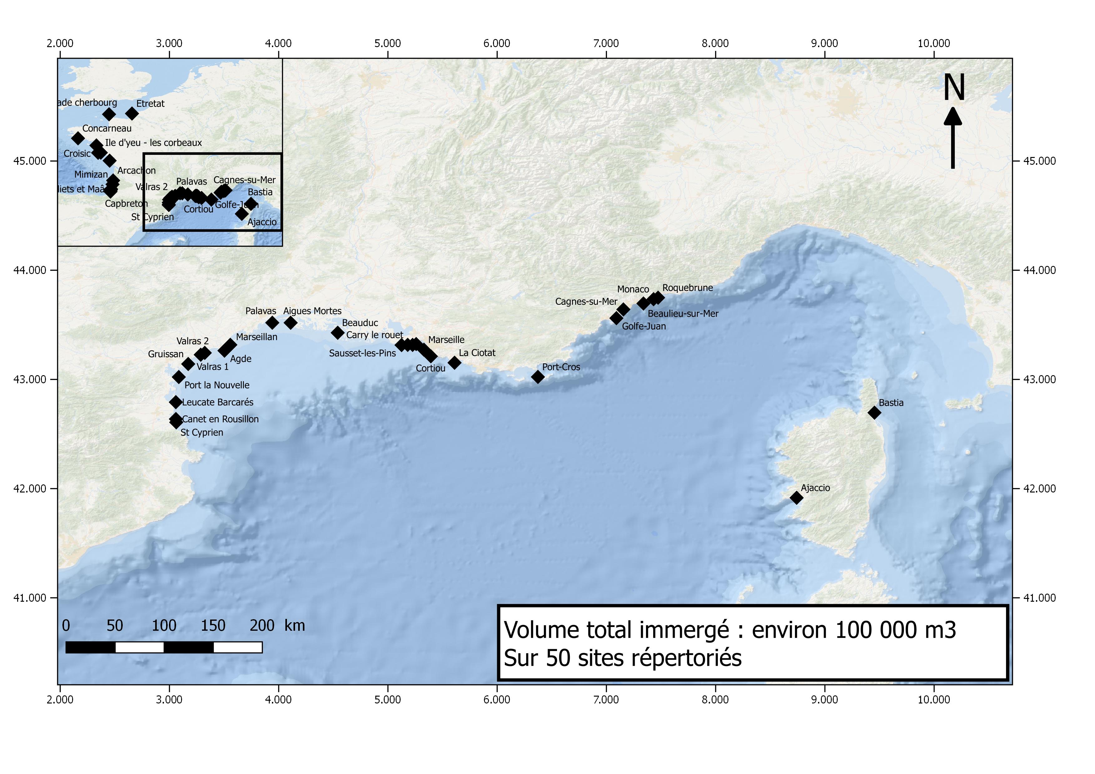 carte méditerranée